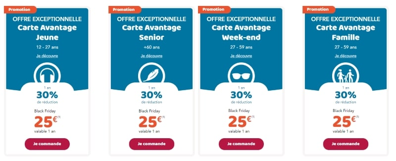 Sncf Black Friday 50 De Reduction Sur Les Cartes Avantage