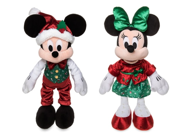 Peluches Mickey et Minnie collection Holiday Cheer à 20 € sur Shop Disney