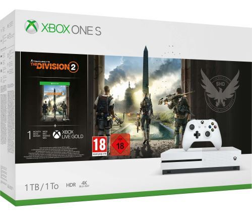 Pack Xbox One S 1 To + Tom Clancy's The Division 2 + Live Gold et Game Pass à 159,99 € sur la Fnac