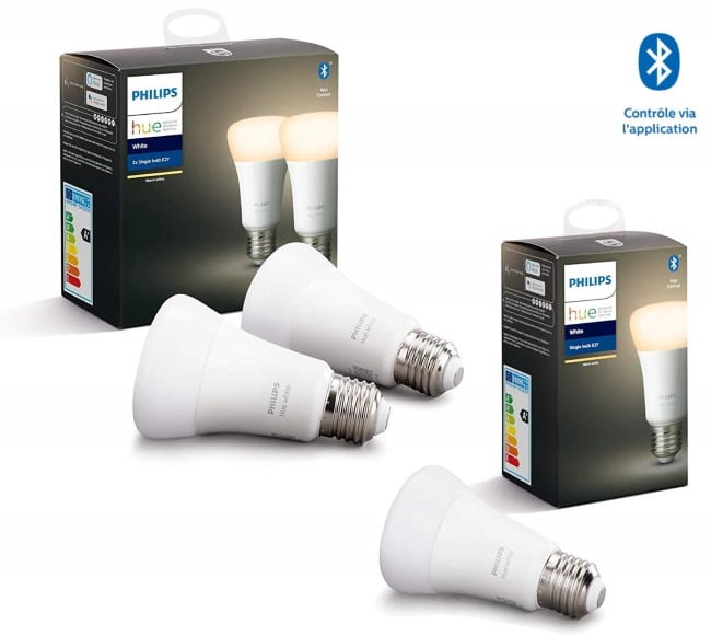 3 ampoules LED Philips Hue Connectées à 34,99 € sur Amazon
