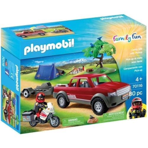 Pick-up avec moto et tente Playmobil Family Fun à 24,99 € sur la Fnac