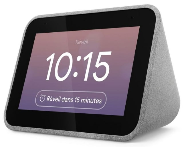 Réveil Lenovo Assistant vocal Smart Clock à 49,90 € sur le site d'Auchan