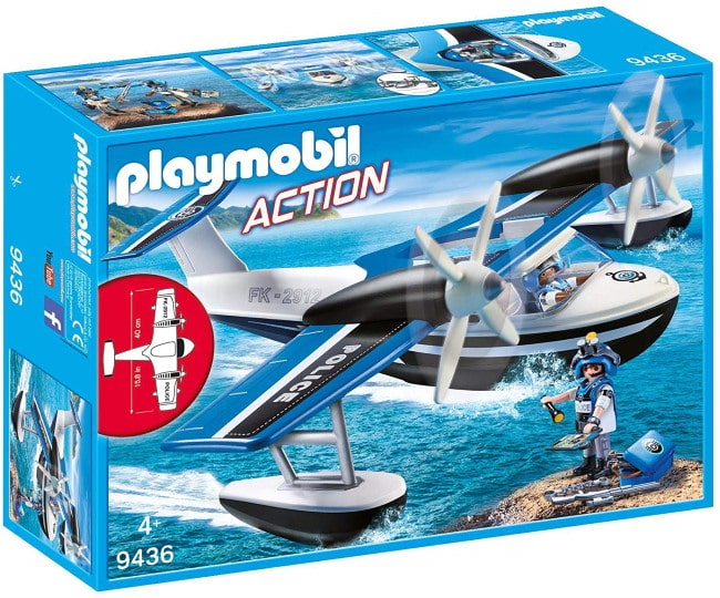 Box 9436 Hydravion de police Playmobil pour 14,39 € sur Amazon
