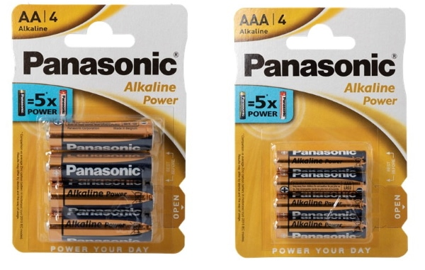 Lot de 4 piles AA ou AAA Panasonic à 0,78 € chez Action