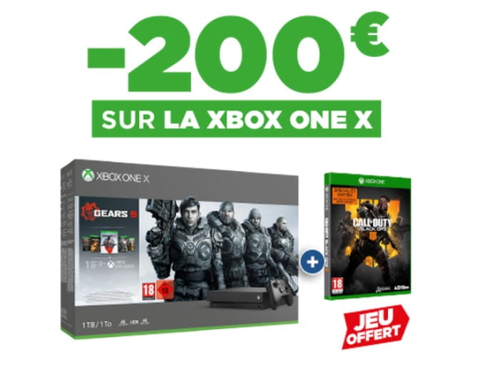 Le pack XBox One X + Call of Duty Black Ops 4 + Gears 5 à 299,99 € chez Micromania