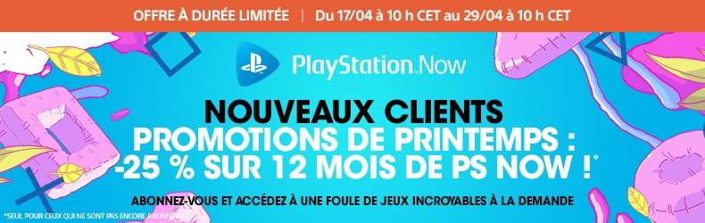 Abonnement PlayStation Now 12 mois à 44,99 €