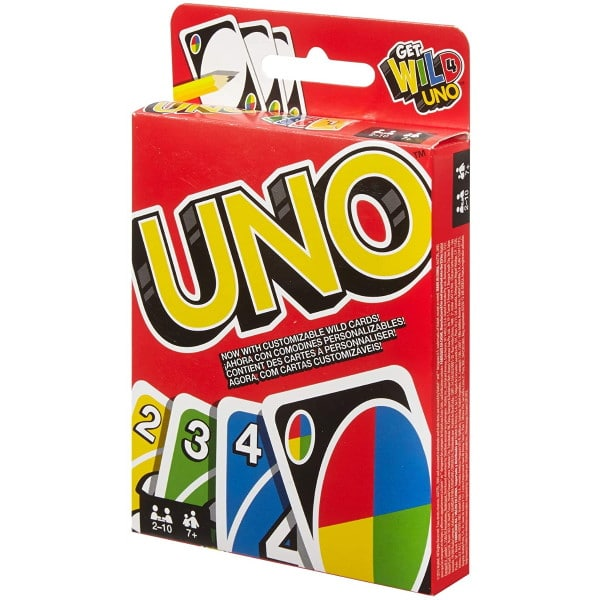 Jeu de cartes Uno à 4,95 € sur Amazon