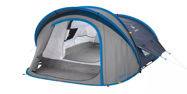 La tente de camping 2 secondes XL 2 air à 60 € chez Decathlon