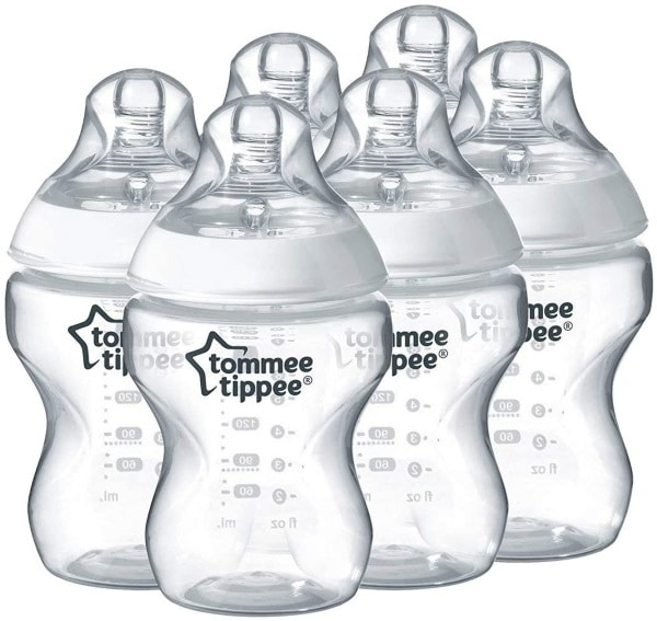 Lot de 6 biberons Tommee Tippee Closer to Nature à 18,38 € sur Amazon