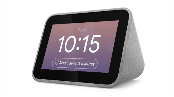 Assistant vocal Lenovo Smart Clock Galet à 44,99 € sur Boulanger