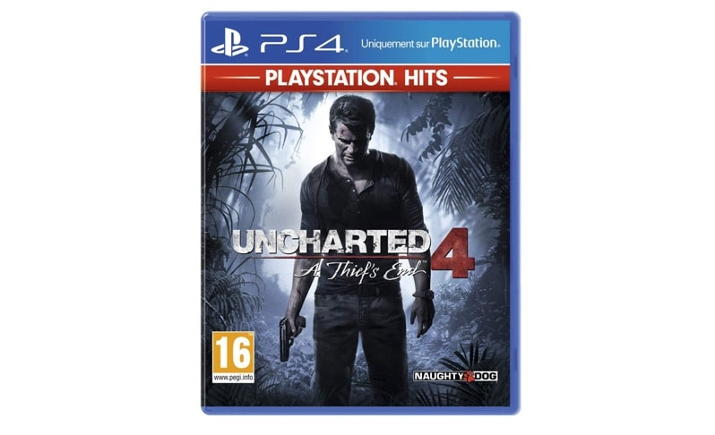Uncharted 4 sur PS4 à 13,82 € sur Amazon