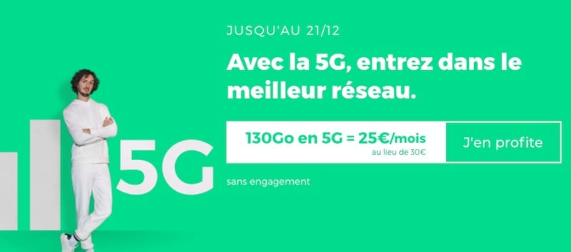 Forfait 5G pas cher avec Red by SFR