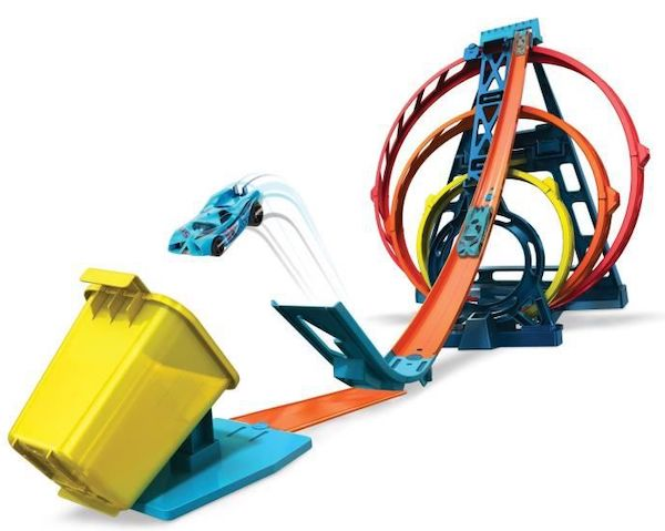 Hot Wheels Track Builder Triple Looping modulable à 18,66 € sur Cdiscount