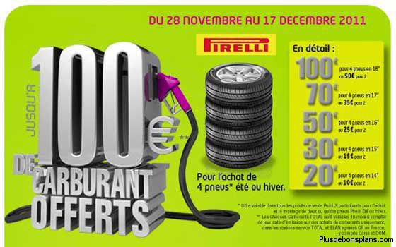 carburant offert chez point s