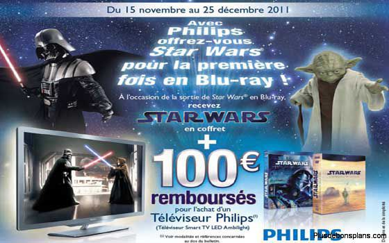 coffret blu-ray star wars offert et 100 euros rembourses tv led smart philips