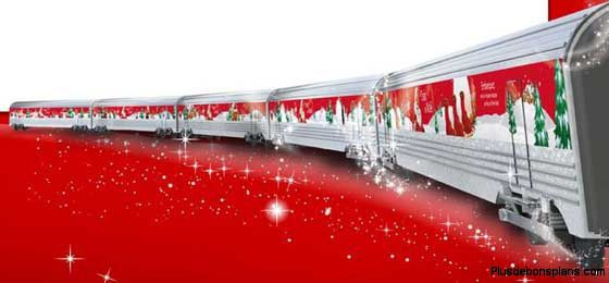 le train du père noel coca cola 2011