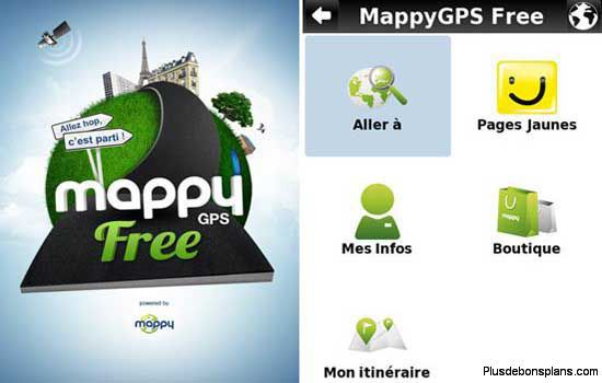 mappy gps gratuit sous iphone et android. Black Bedroom Furniture Sets. Home Design Ideas