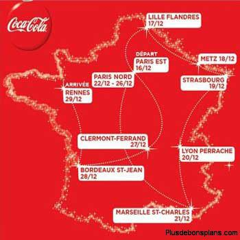 train du père noel 2011 coca cola - les dates