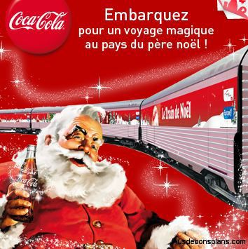 Train du père noel 2011 coca cola